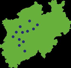 Einsatzorte NRW Karte